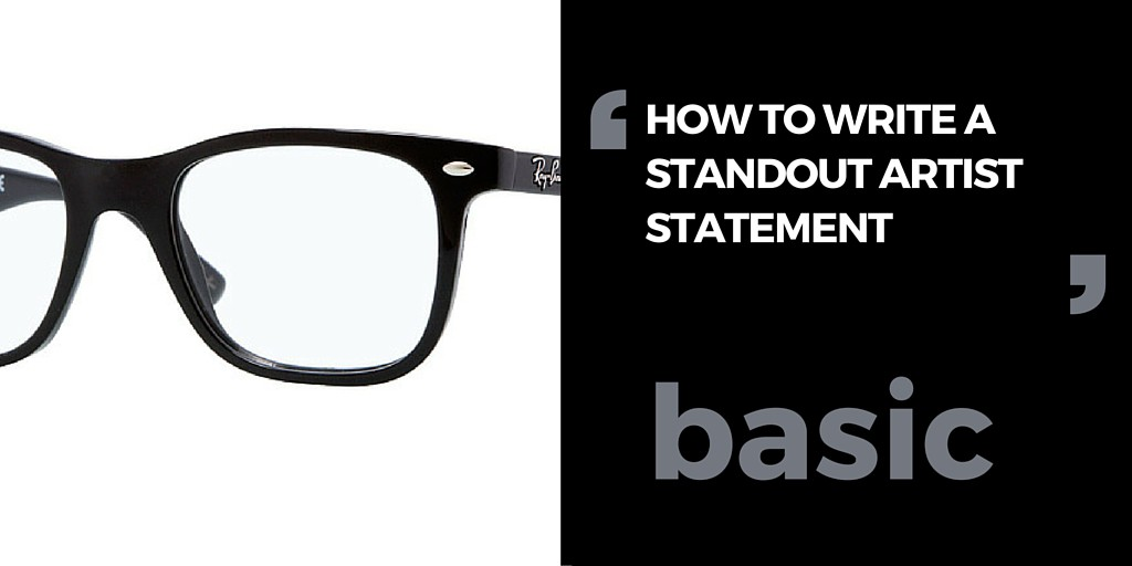 How to write a good artist statement