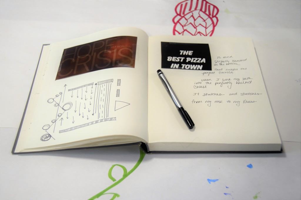 Sketchbook and writing prompts