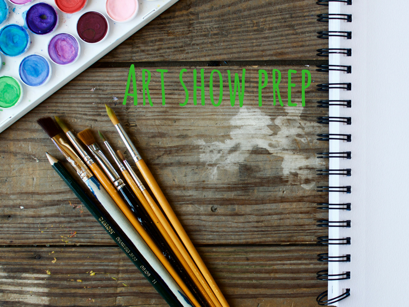 How to prep student work for an ARt show…. without losing your mind