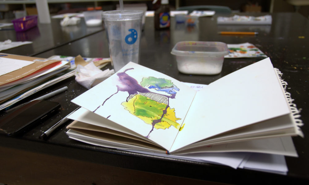 How to make an accordion Sketchbook with Your Students